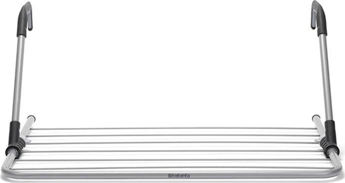 Сушилка для белья Brabantia, надверная, цвет: серый металлик, 4,5 м. 105241 brabantia сушилка для белья надверная brabantia 71х69х29 см серый металлик lgom w h4
