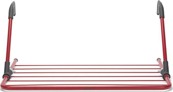 Сушилка для белья Brabantia, надверная, цвет: пламенно-красный, 4,5 м. 105265