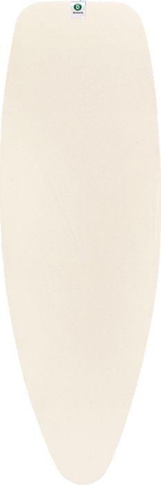 Чехол для гладильной доски Brabantia Perfect Fit, 2 мм, цвет: экрю, 135 х 45 см. 124662124662Все чехлы Brabantia поставляются с биркой, на которой нанесена цветовая маркировка, позволяющая Вам быстро и точно подобрать в магазине нужный сменный чехол для своей гладильной доски. • Идеальная рабочая поверхность для глажения и отпаривания. • Длительный срок службы и плавное скольжение утюга – верхний чехол из 100% хлопка. • Удобная фиксация на доске и отличное натяжение чехла – затягивающий шнур и система натяжения Stretch-System.