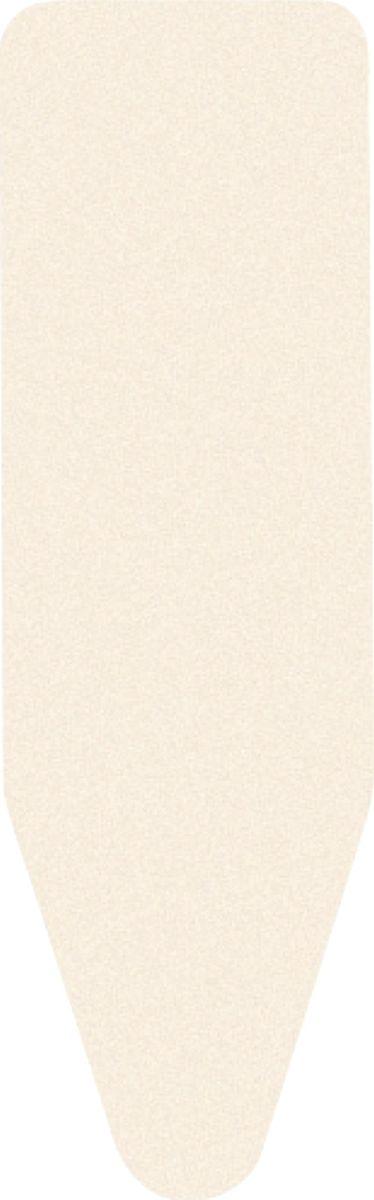 Чехол для гладильной доски Brabantia Perfect Fit, 2 мм, цвет: экрю, 124 х 38 см. 175824 чехол для гладильной доски brabantia ящерица с войлоком 124 см х 38 см цвет голубой 265006