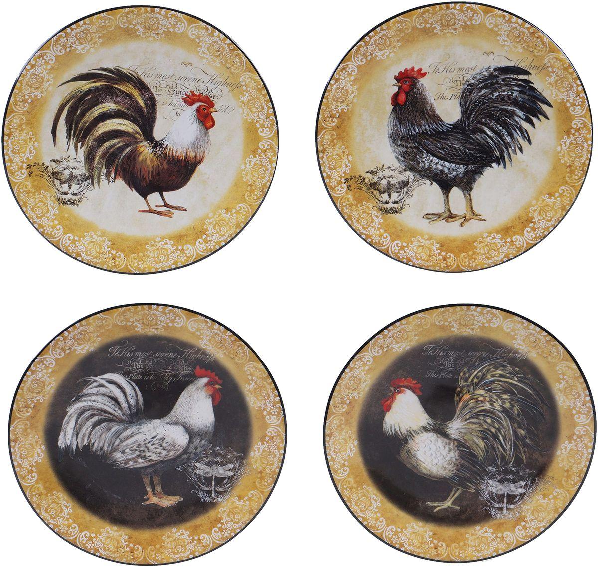 Набор тарелок Certified International Винтажный петух, диаметр 15 см, 4 шт57490/1
