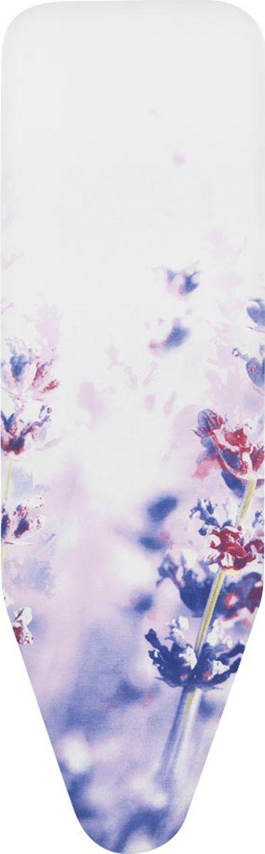 Чехол для гладильной доски Brabantia Perfect Fit, цвет: лаванда, 124 х 45 см. 191466 чехол для гладильной доски brabantia ящерица с войлоком 124 см х 38 см цвет голубой 265006