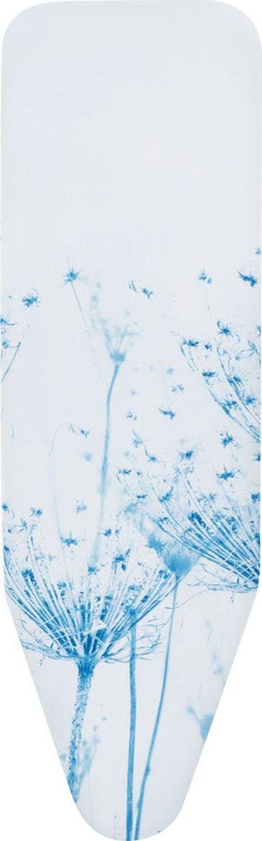 Чехол для гладильной доски Brabantia Perfect Fit, цвет: цветок хлопка, 124 х 45 см. 191466 чехол для гладильной доски brabantia ящерица с войлоком 124 см х 38 см цвет голубой 265006