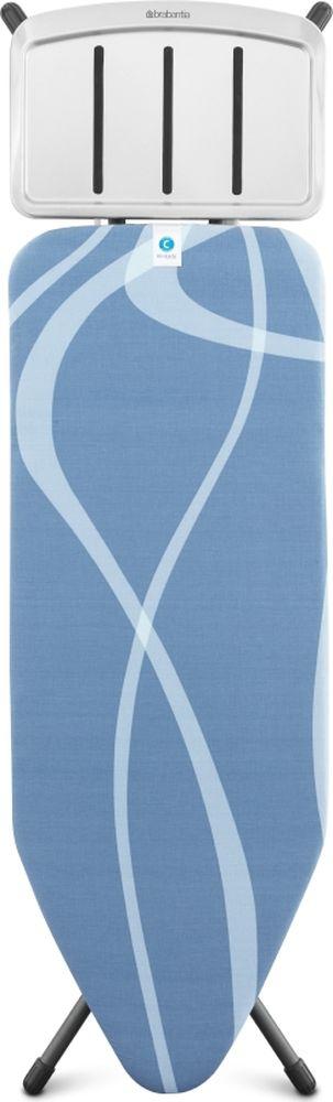 Чехол для гладильной доски Brabantia Perfect Fit, 2 мм, цвет: волны, 124 х 45 см. 191527 чехол для гладильной доски brabantia ящерица с войлоком 124 см х 38 см цвет голубой 265006
