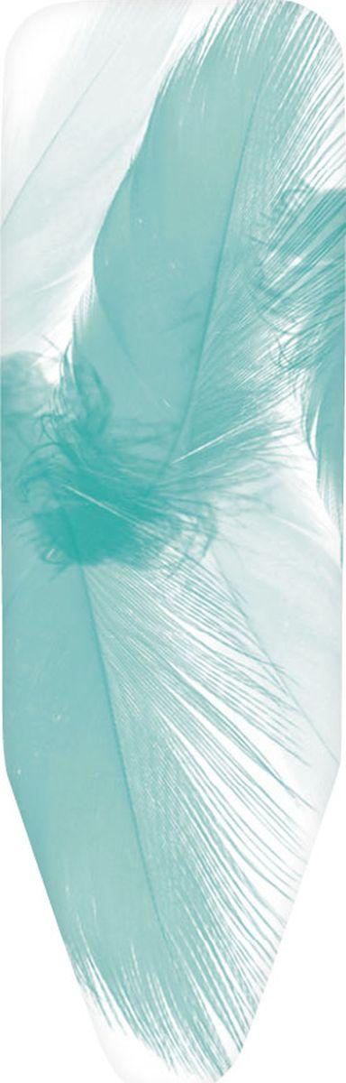 Чехол для гладильной доски Brabantia Perfect Fit, 2 мм, цвет: перья, 135 х 45 см. 252266252266Все чехлы Brabantia поставляются с биркой, на которой нанесена цветовая маркировка, позволяющая Вам быстро и точно подобрать в магазине нужный сменный чехол для своей гладильной доски. • Идеальная рабочая поверхность для глажения и отпаривания. • Длительный срок службы и плавное скольжение утюга – верхний чехол из 100% хлопка. • Удобная фиксация на доске и отличное натяжение чехла – затягивающий шнур и система натяжения Stretch-System.
