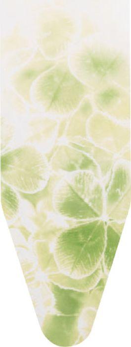 Чехол для гладильной доски Brabantia Perfect Fit, цвет: листья клевера, 124 х 38 см. 264641 чехол для гладильной доски brabantia ящерица с войлоком 124 см х 38 см цвет голубой 265006
