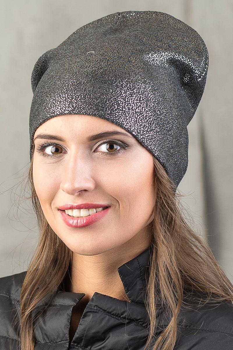 Шапка вязаная женская Stilla, цвет: серый металлик. SH-1768/05. Размер 52/58SH-1768/05Элегантная вязаная женская шапка Stilla, изготовленная из пряжи с содержанием шерсти и акрила исключительно мягкая, комфортная и теплая. Мелкая плотная вязка, делает эту модель эффектной и не забываемой. Практичная форма шапки делает ее очень комфортной. Трикотажная подкладка отлично защитит в сильный холод.Шапка Stilla прекрасно дополнит ваш образ с шубой или пальто.