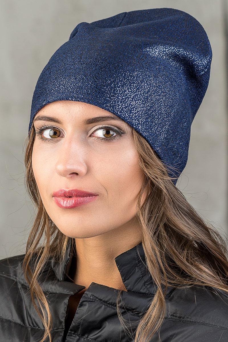 Шапка вязаная женская Stilla, цвет: синий. SH-1768/08. Размер 52/58SH-1768/08Элегантная вязаная женская шапка Stilla, изготовленная из пряжи с содержанием шерсти и акрила исключительно мягкая, комфортная и теплая. Мелкая плотная вязка, делает эту модель эффектной и не забываемой. Практичная форма шапки делает ее очень комфортной. Трикотажная подкладка отлично защитит в сильный холод.Шапка Stilla прекрасно дополнит ваш образ с шубой или пальто.