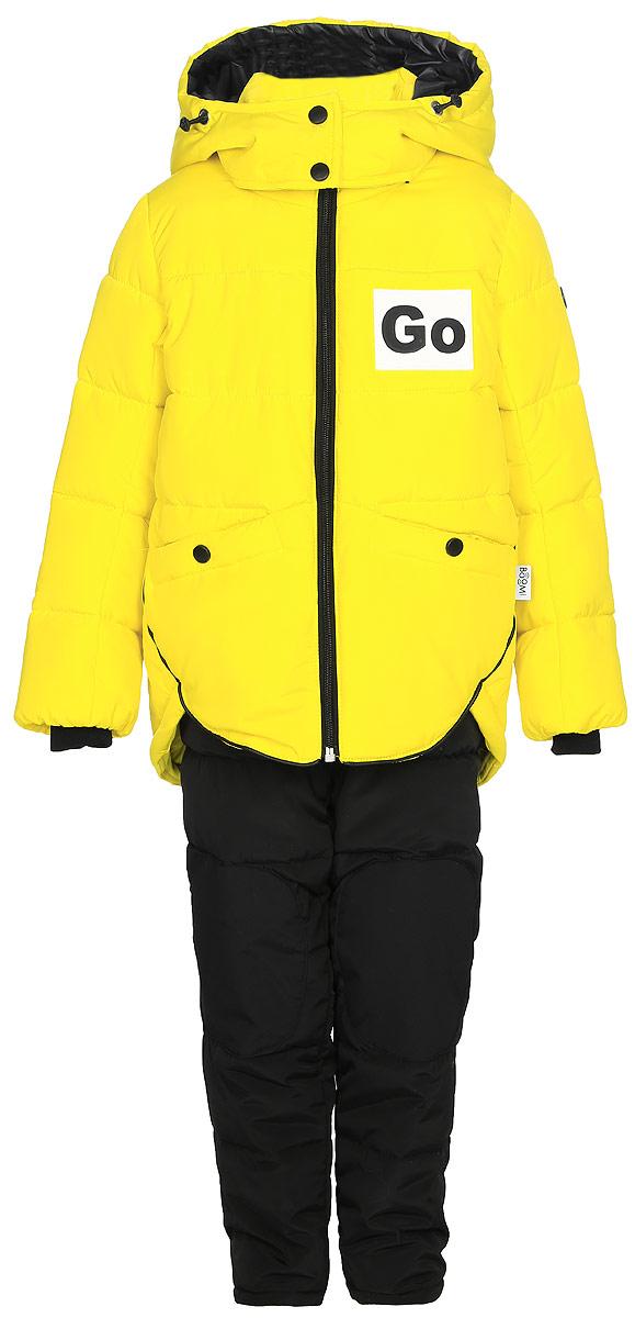 Комплект верхней одежды для девочки Boom!: куртка, брюки, цвет: желтый. 70600_BOG_вар.1. Размер 86, 1,5-2 года