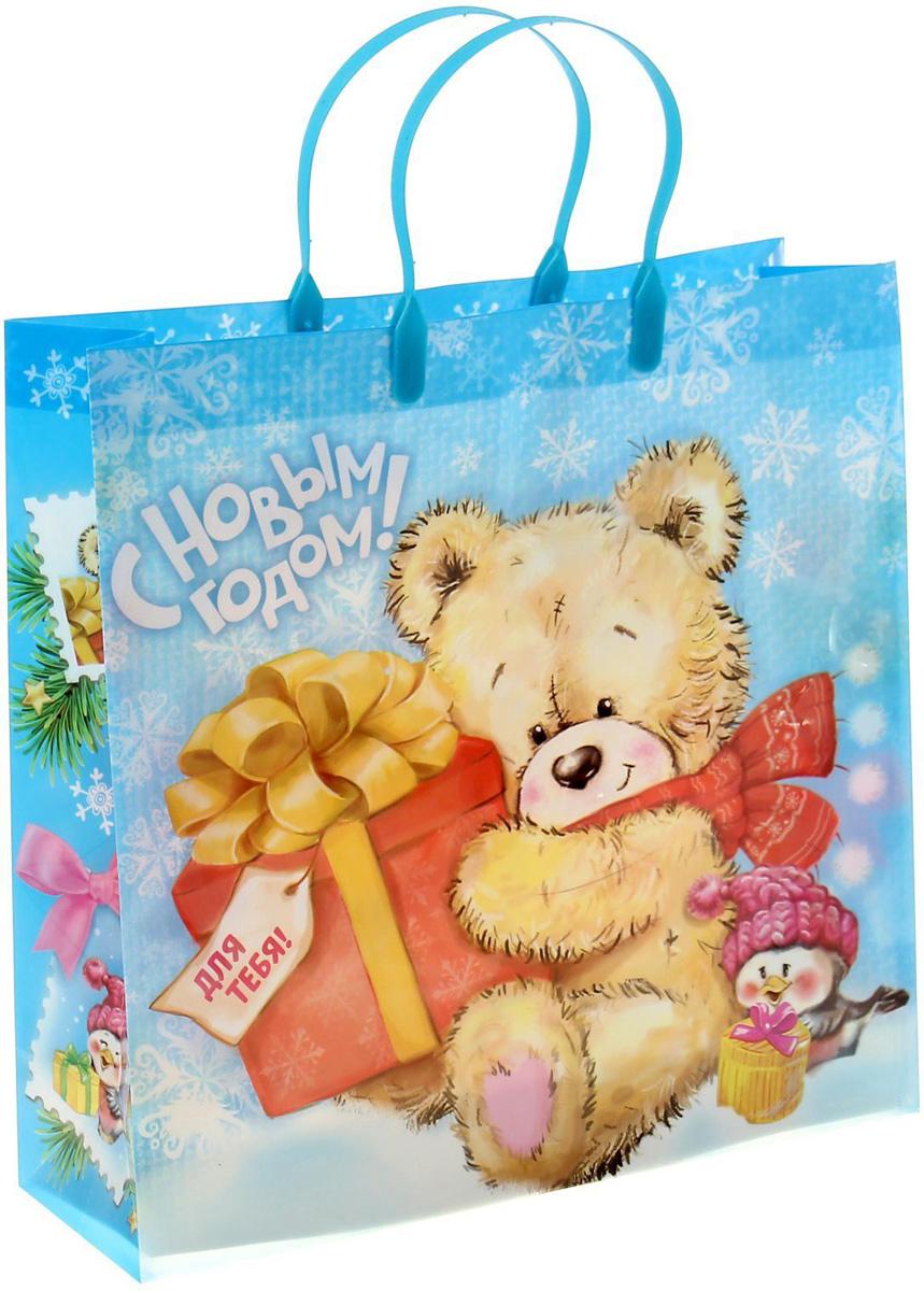 Пакет подарочный Sima-land Мишка с подарком, 30 х 30 см1043732Подарочный пакет Sima-land, изготовленный из пластика, станет незаменимым дополнением к выбранному подарку. Для удобной переноски имеются две ручки.Подарок, преподнесенный в оригинальной упаковке, всегда будет самым эффектным и запоминающимся. Окружите близких людей вниманием и заботой, вручив презент в нарядном, праздничном оформлении.