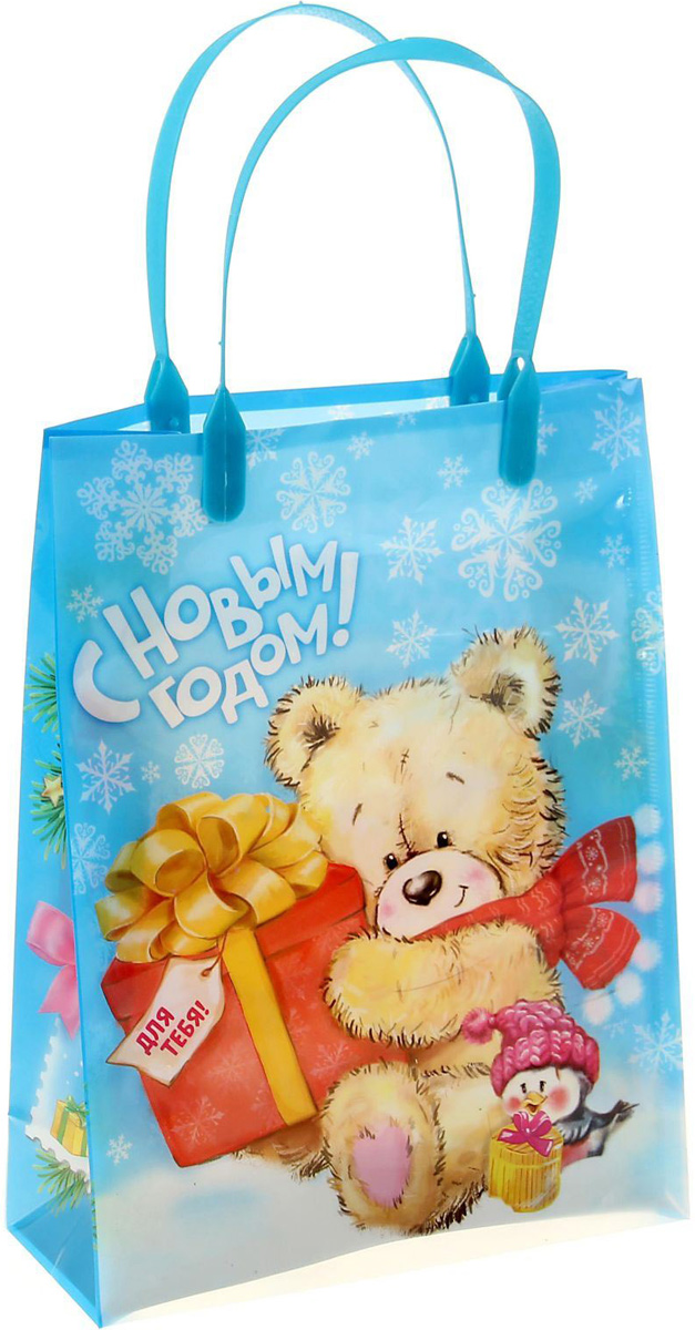 Пакет подарочный Sima-land Мишка с подарком, 18 х 23 см1043733Подарочный пакет Sima-land, изготовленный из пластика, станет незаменимым дополнением к выбранному подарку. Для удобной переноски имеются две ручки.Подарок, преподнесенный в оригинальной упаковке, всегда будет самым эффектным и запоминающимся. Окружите близких людей вниманием и заботой, вручив презент в нарядном, праздничном оформлении.