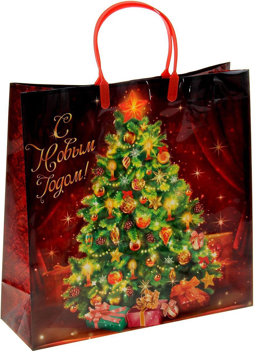 Пакет подарочный Sima-land Новогодняя елка, 30 х 30 см1043738Подарочный пакет Sima-land, изготовленный из пластика, станет незаменимым дополнением к выбранному подарку. Для удобной переноски имеются две ручки.Подарок, преподнесенный в оригинальной упаковке, всегда будет самым эффектным и запоминающимся. Окружите близких людей вниманием и заботой, вручив презент в нарядном, праздничном оформлении.