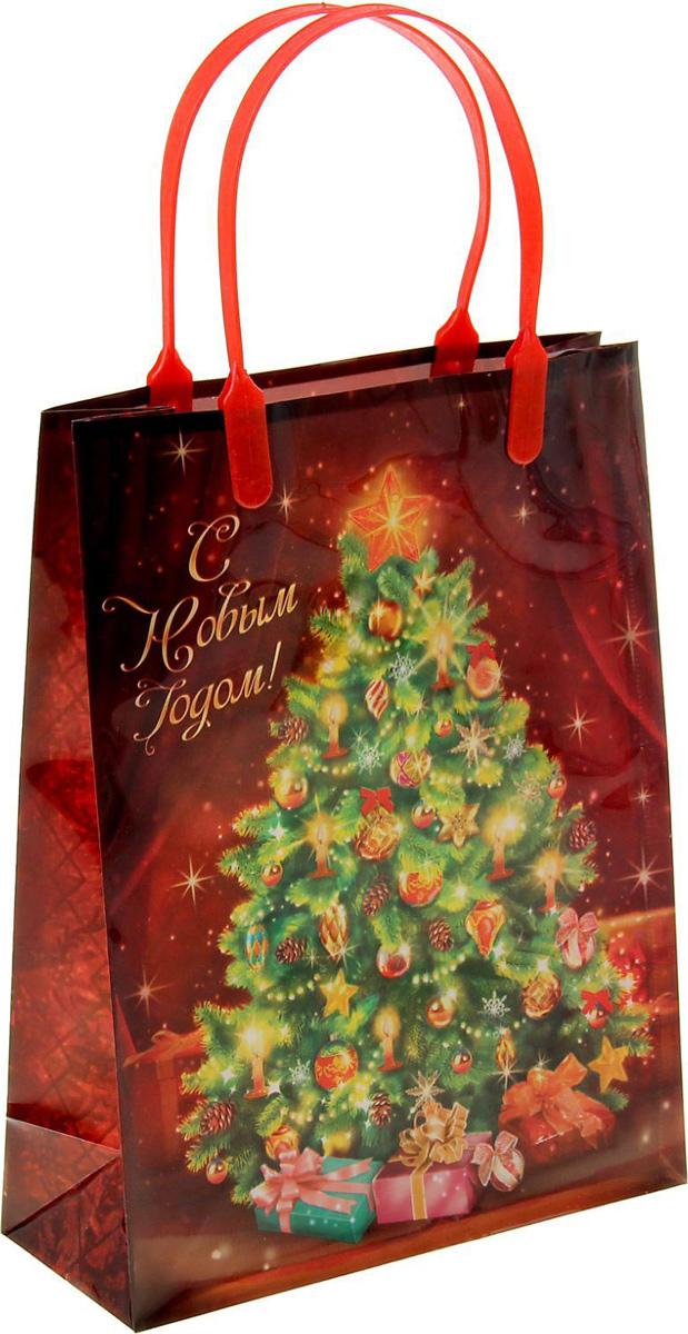 Пакет подарочный Sima-land Новогодняя елка, 18 х 23 см1043739Подарочный пакет Sima-land, изготовленный из пластика, станет незаменимым дополнением к выбранному подарку. Для удобной переноски имеются две ручки.Подарок, преподнесенный в оригинальной упаковке, всегда будет самым эффектным и запоминающимся. Окружите близких людей вниманием и заботой, вручив презент в нарядном, праздничном оформлении.
