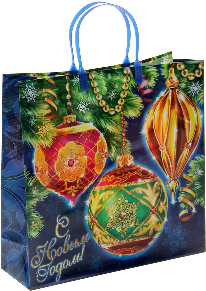 Пакет подарочный Sima-land Новогодние шарики, 30 х 30 см1043744Подарочный пакет Sima-land, изготовленный из пластика, станет незаменимым дополнением к выбранному подарку. Для удобной переноски имеются две ручки.Подарок, преподнесенный в оригинальной упаковке, всегда будет самым эффектным и запоминающимся. Окружите близких людей вниманием и заботой, вручив презент в нарядном, праздничном оформлении.