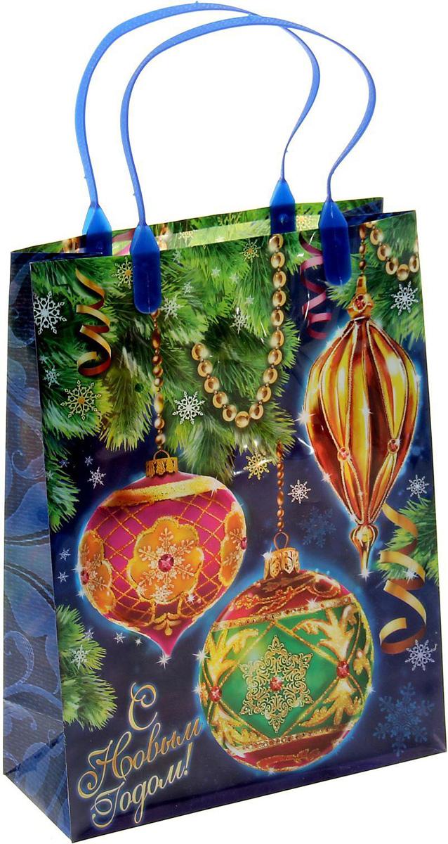 Пакет подарочный Sima-land Новогодние шарики, 18 х 23 см1043745Подарочный пакет Sima-land, изготовленный из пластика, станет незаменимым дополнением к выбранному подарку. Для удобной переноски имеются две ручки.Подарок, преподнесенный в оригинальной упаковке, всегда будет самым эффектным и запоминающимся. Окружите близких людей вниманием и заботой, вручив презент в нарядном, праздничном оформлении.