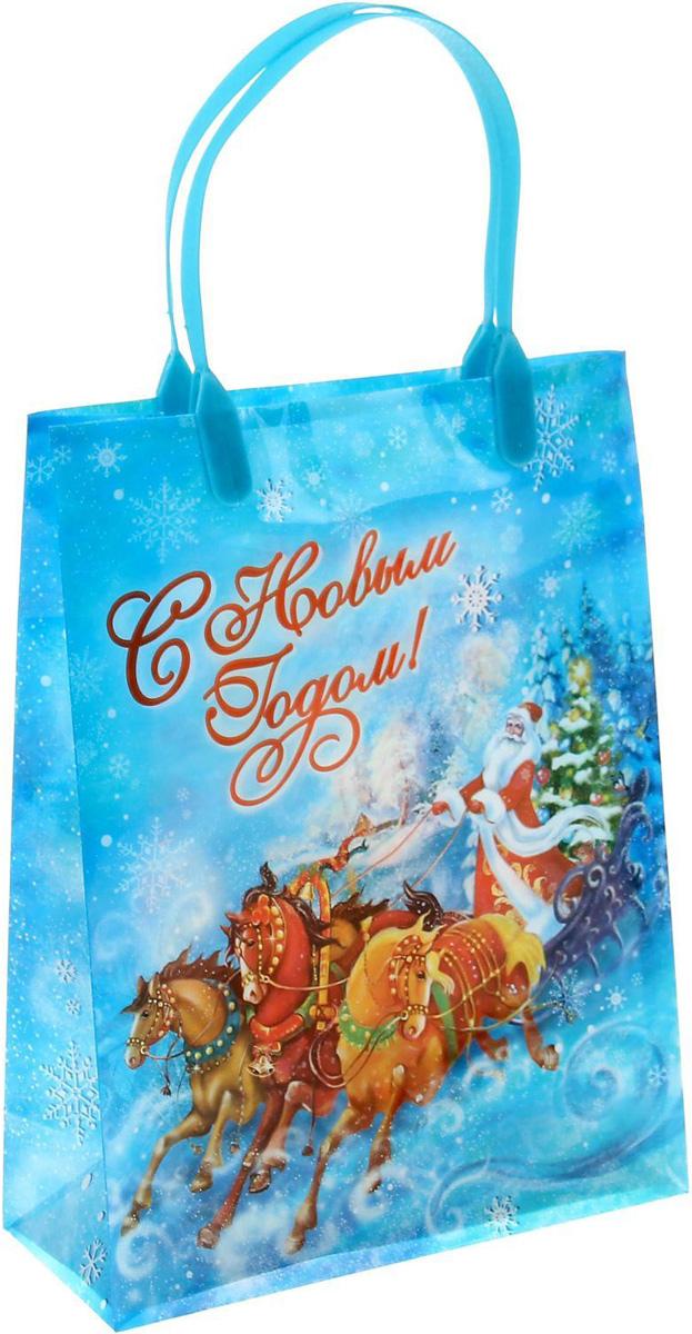 Пакет подарочный Sima-land Новогодняя тройка, 18 х 23 см1043749Подарочный пакет Sima-land, изготовленный из пластика, станет незаменимым дополнением к выбранному подарку. Для удобной переноски имеются две ручки.Подарок, преподнесенный в оригинальной упаковке, всегда будет самым эффектным и запоминающимся. Окружите близких людей вниманием и заботой, вручив презент в нарядном, праздничном оформлении.