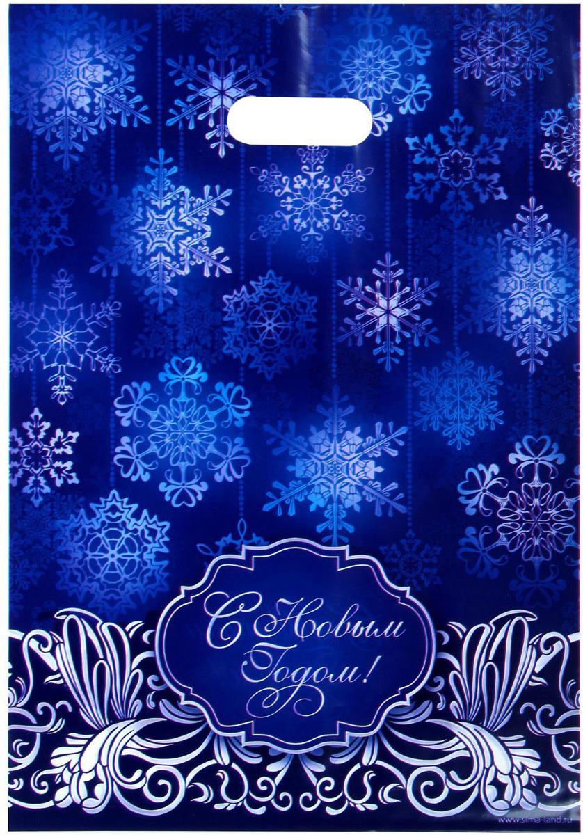 Пакет подарочный Дарите Счастье Снежинки, полиэтиленовый, 23 х 29,5 см1045005Привлекательная упаковка послужит достойным украшением любого, даже самого скромного подарка. Она поможет создать интригу и продлить время предвкушения чуда - момента, когда презент окажется в руках адресата.Подарочный пакет Дарите Счастье Снежинки обязательно понравится получателю!