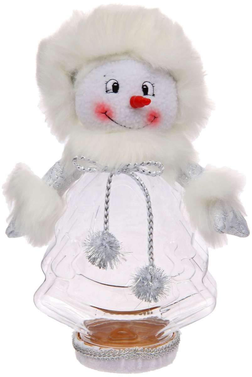 Конфетница Sima-land Снеговик - красный нос, вместимость 320 г1050195Нарядная банка-конфетница Sima-land изготовлена из сочетания текстиля и пластика. Яркий символичный персонаж на передней стороне изделия создаст новогоднее настроение. Креативная упаковка сделает ваш презент особенным и самым запоминающимся.Вместительность: 320 г.