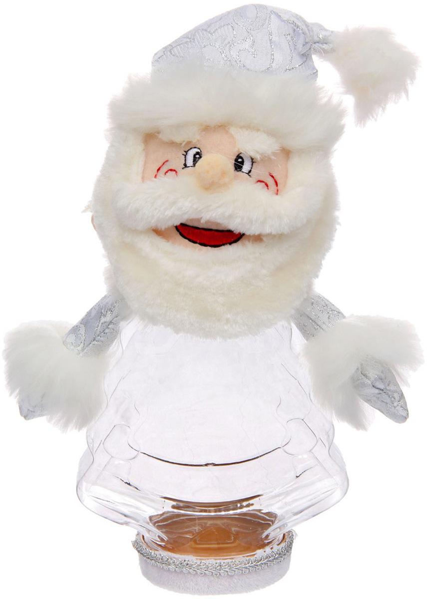 Подарочная упаковка Sima-land Дед мороз, большие усы, цвет: белый, серебристый, вместимость 320 г1050197Стильная подарочная упаковка Sima-land Дед мороз изготовлена из текстиля и искусственного меха. Упаковка выполнена в виде Деда Мороза и дополнена прозрачной пластиковой банкой для сладких подарков. Яркий символичный персонаж создаст новогоднее настроение. Креативная упаковка сделает ваш презент особенным и самым запоминающимся.Вместительность: 320 г.