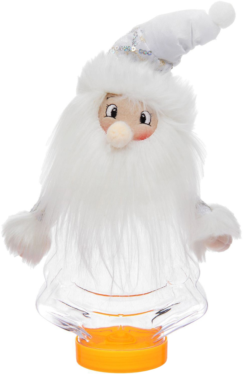 Конфетница Sima-land Дедушка Мороз - мохнатая борода, вместимость 320 г подарочная упаковка sima land снегурочка в кокошнике цвет голубой белый вместимость 320 г