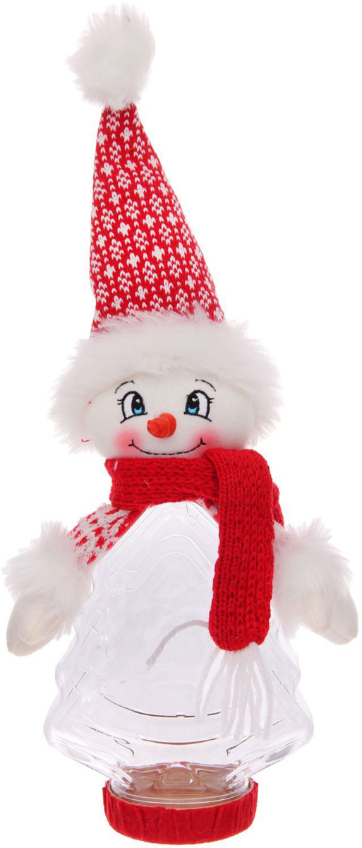 Подарочная упаковка Sima-land Снеговик, красный шарф, вместимость 320 г1050212Сделанная своими руками оригинальная упаковка выделит презент из массы других, расскажет о ваших тёплых чувствах, наполнит праздник сказочной атмосферой. Благодаря нашему набору для творчества сделать её не составит труда! Следуйте инструкции, и вы легко создадите яркую, привлекающую внимание коробочку.