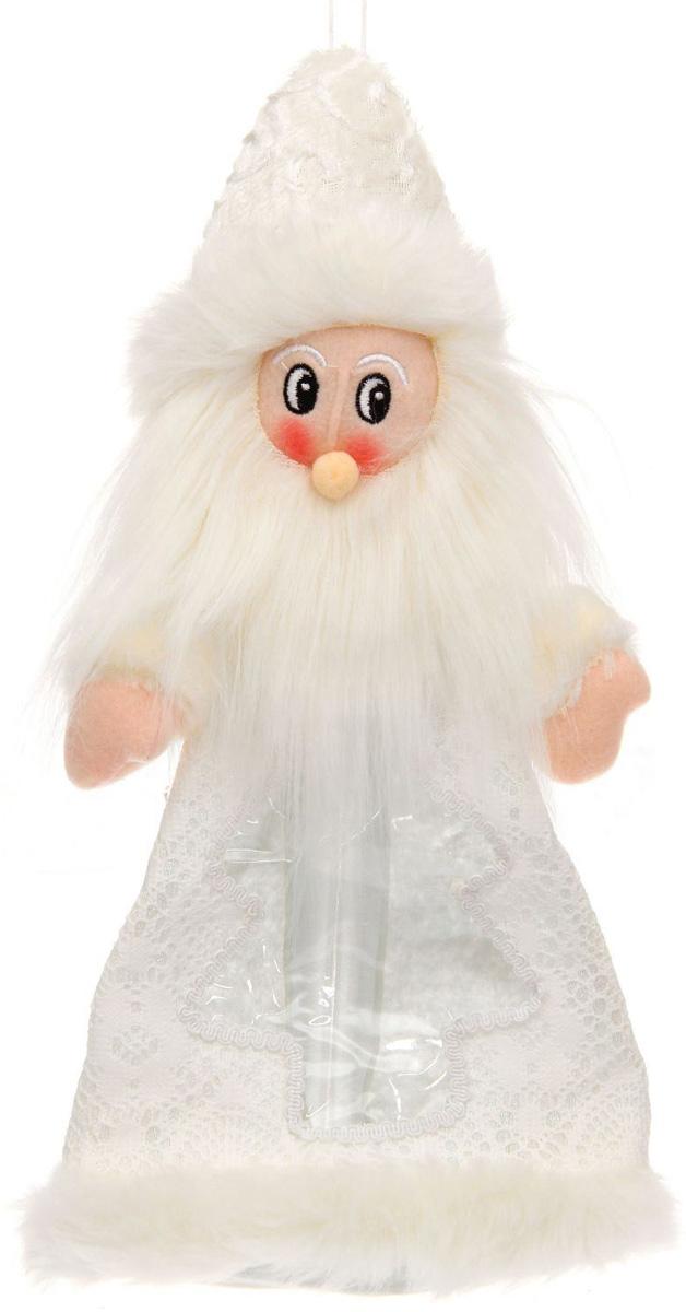 Конфетница Sima-land Дед Мороз - мохнатая борода, вместимость 800 г1050222Нарядная конфетница Sima-land изготовлена из текстиля и искусственного меха. Упаковка выполнена в виде символичного персонажа и застегивается сзади на молнию. Спереди имеется прозрачное окошко. Подарочную упаковку можно подвесить в любое место с помощью петли-шнурка. Яркий символичный персонаж создаст новогоднее настроение. Креативная упаковка сделает ваш презент особенным и самым запоминающимся.Вместительность: 800 г.