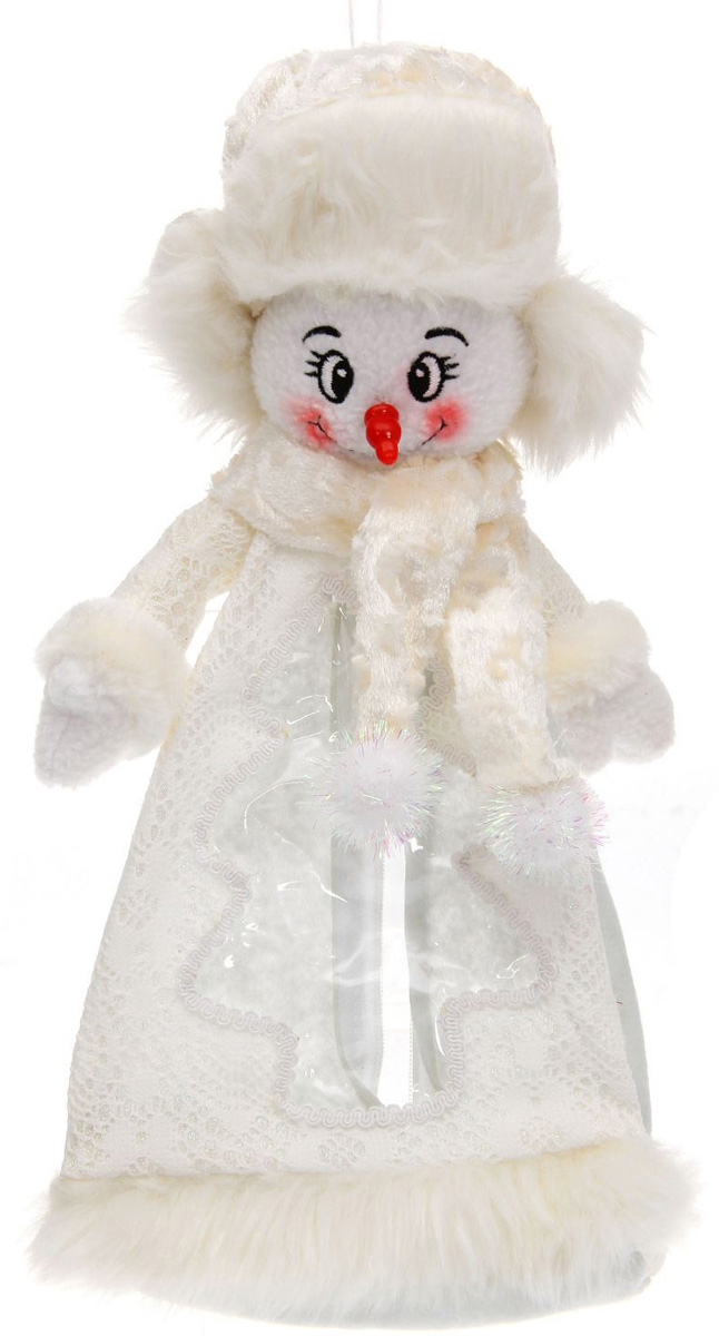 Подарочная упаковка Sima-land Снеговик, красный нос, цвет: белый, серебристый, вместимость 800 г1050223Нарядная подарочная упаковка Sima-land Снеговик изготовлена из текстиля и искусственного меха. Упаковка выполнена в виде Снеговика и застегивается сзади на спинке на застежку-молнию. Спереди имеется прозрачная вставка обшитая серебряной каймой. Подарочную упаковку можно подвесить в любое место, с помощью пришитого к колпаку шнурка. Яркий символичный персонаж создаст новогоднее настроение. Креативная упаковка сделает ваш презент особенным и самым запоминающимся.Вместительность: 800 г.