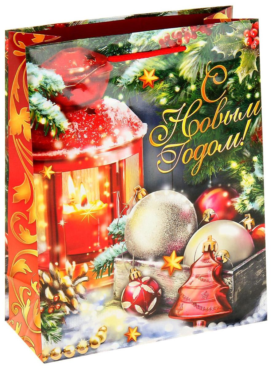 Пакет подарочный Sima-land Новогодний фонарик, вертикальный, 18 х 23 см1053032Сделанная своими руками оригинальная упаковка выделит презент из массы других, расскажет о ваших тёплых чувствах, наполнит праздник сказочной атмосферой. Благодаря нашему набору для творчества сделать её не составит труда! Следуйте инструкции, и вы легко создадите яркую, привлекающую внимание коробочку.