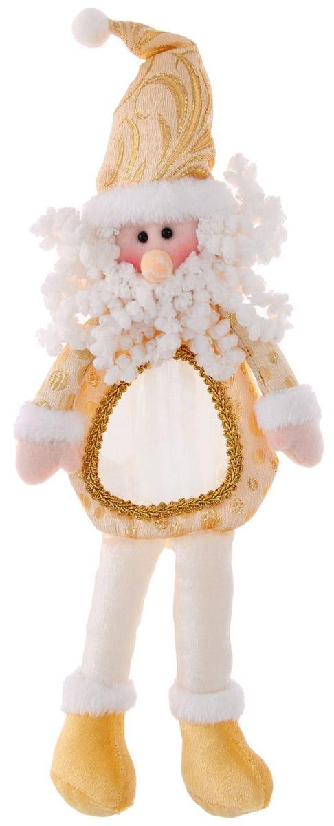 Подарочная упаковка Страна Карнавалия Дед мороз на ножках, цвет: бежевый1055149Людям свойственно в первую очередь смотреть на обложку и только потом заглядывать внутрь. Вот почему так важно красиво и вкусно упаковать любой подарок. Подарочная упаковка Страна Карнавалия Дед мороз на ножках сделает ваш презент особенным и создаст новогоднее настроение! Эффектный Дедушка Мороз вместит в себя любые приятные мелочи. На спинке у него есть молния, а на животике прозрачное окошко — чтобы увидеть, что ждёт вас внутри. На своих длинных ножках он отлично усядется под елкой и добавит вашему интерьеру праздничных красок! А обычное сладкое угощение, упакованное таким образом, превратится в запоминающийся сюрприз! Вместимость: 300 гр.