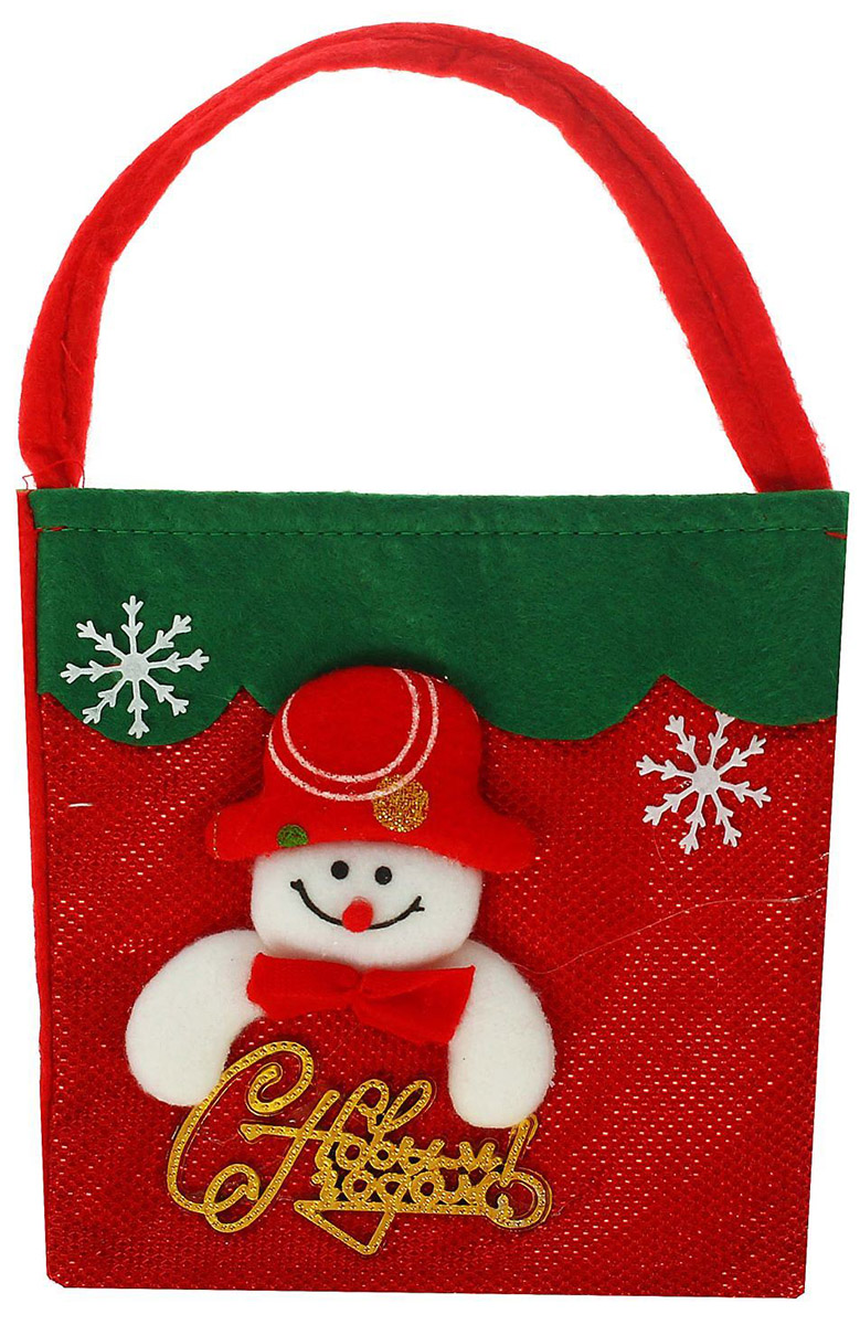 """В новогодние праздники уделите упаковке подарков особое внимание. Ведь разворачивание презента в самую волшебную ночь года — особенный ритуал, такой же сказочный, как и само торжество.  Подарочная упаковка Страна Карнавалия """"Снеговик. С новым годом"""" с тематической аппликацией станет прекрасным оформлением вашего гостинца. В нее можно положить что угодно: конфеты, игрушки, любые приятные мелочи. Она сделает ваш презент особенным и сама станет запоминающимся подарком. А обычные сладости, упакованные таким образом, превратятся в настоящий сюрприз.  Вместимость: 300 гр."""