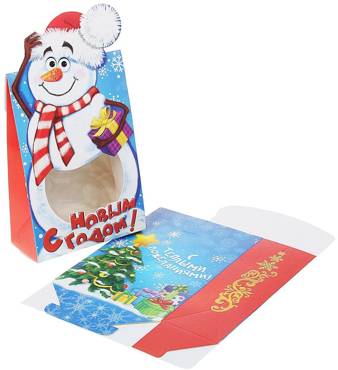 Коробка сборная фигурная Sima-land Снеговик, 15 х 22 см1073310Любой подарок начинается с упаковки. Что может быть трогательнее и волшебнее, чем ритуал разворачивания полученного презента. И именно оригинальная, со вкусом выбранная упаковка выделит ваш подарок из массы других. Она продемонстрирует самые теплые чувства к виновнику торжества и создаст сказочную атмосферу праздника.