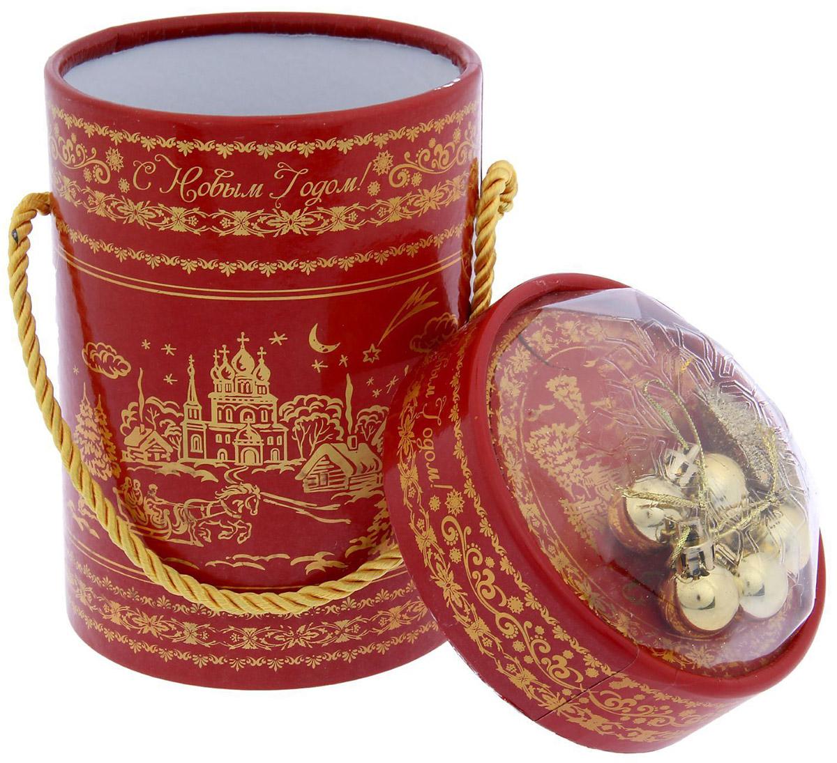 Коробка-тубус подарочная Sima-land С Новым Годом, 11,5 х 15 см открытка объемная sima land колокольчики 15 х 15 см