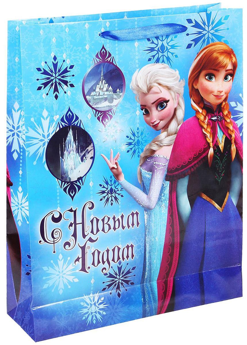 Пакет подарочный Disney С Новым Годом, 31 х 40 см. 11206421120642Подарочный пакет Disney С Новым Годом, изготовленный из картона, станет незаменимым дополнением к выбранному подарку. Для удобной переноски на пакете имеются две ручки. Подарок, преподнесенный в оригинальной упаковке, всегда будет самымэффектным и запоминающимся. Окружите близких людей вниманием и заботой, вручив презент в нарядном, праздничном оформлении.