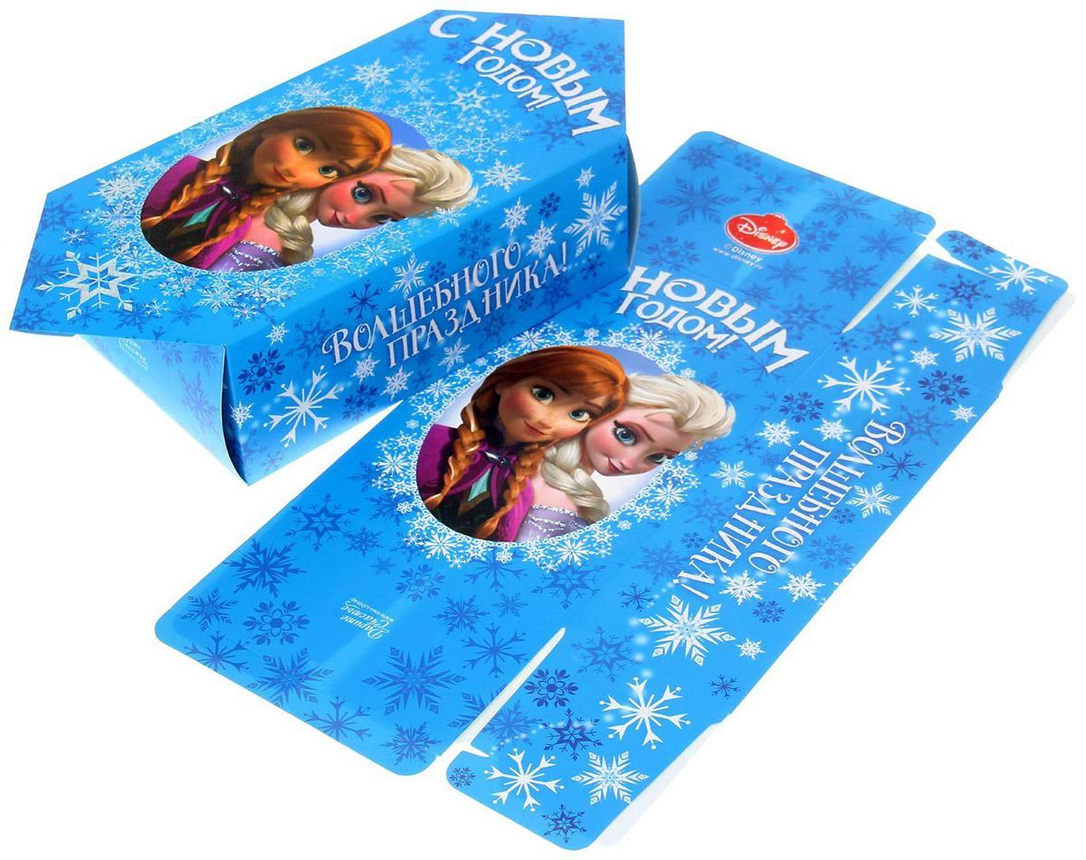 Сборная коробка-конфета Disney С Новым годом, 14 х 22 см. 11231751123175Сделанная своими руками оригинальная упаковка выделит презент из массы других, расскажет о ваших тёплых чувствах, наполнит праздник сказочной атмосферой. Благодаря нашему набору для творчества сделать её не составит труда! Следуйте инструкции, и вы легко создадите яркую, привлекающую внимание коробочку.
