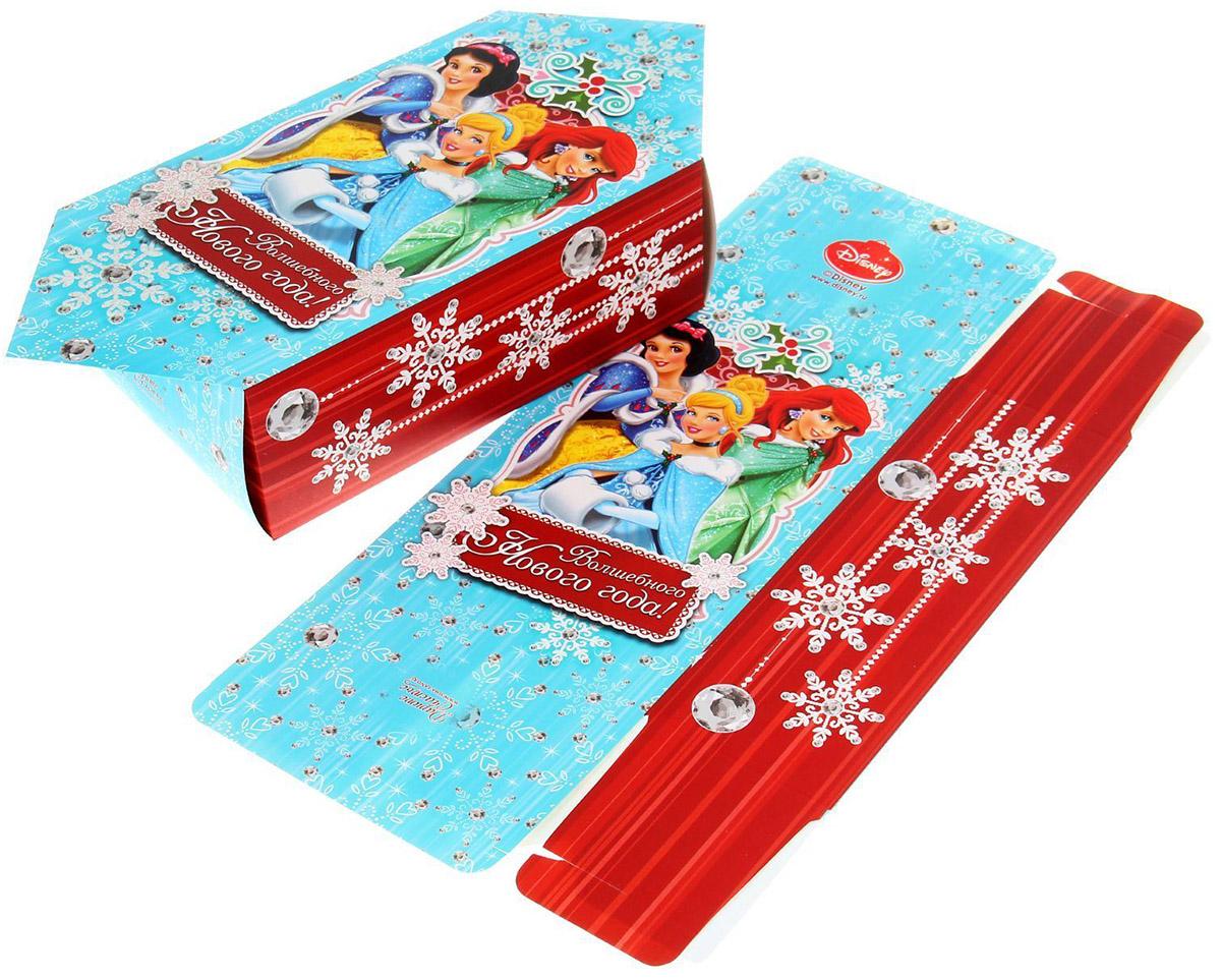 Сборная коробка-конфета Disney Волшебного Нового года!, 14 х 22 см. 11231771123177Сделанная своими руками оригинальная упаковка выделит презент из массы других, расскажет о ваших тёплых чувствах, наполнит праздник сказочной атмосферой. Благодаря нашему набору для творчества сделать её не составит труда! Следуйте инструкции, и вы легко создадите яркую, привлекающую внимание коробочку.
