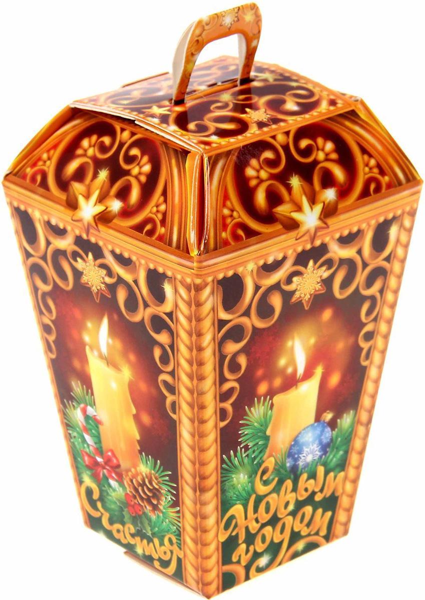 Коробка сборная фигурная Sima-land Фонарь, 12 х 6 см свеча ароматизированная sima land лимон на подставке высота 6 см