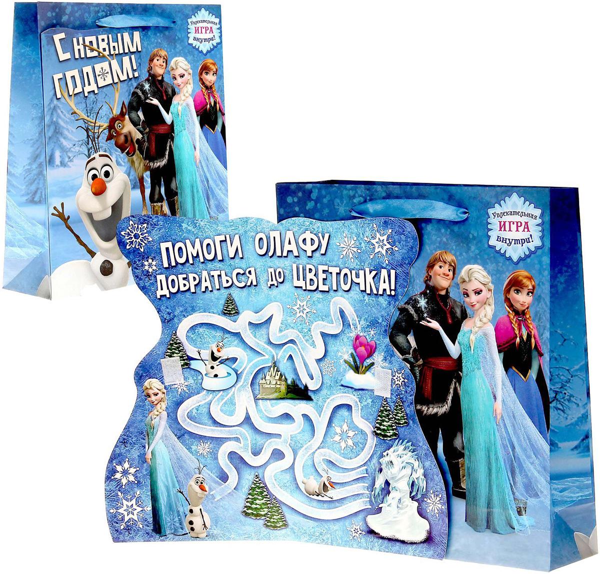 Пакет подарочный Disney Холодное сердце. С Новым годом, с открыткой, 23 х 27 см1125427Подарочный пакет с открыткой Disney Холодное сердце. С Новым годом, изготовленный из картона, станет незаменимым дополнением к выбранному подарку. Для удобной переноски на пакете имеются две ручки. Подарок, преподнесенный в оригинальной упаковке, всегда будет самымэффектным и запоминающимся. Окружите близких людей вниманием и заботой, вручив презент в нарядном, праздничном оформлении.