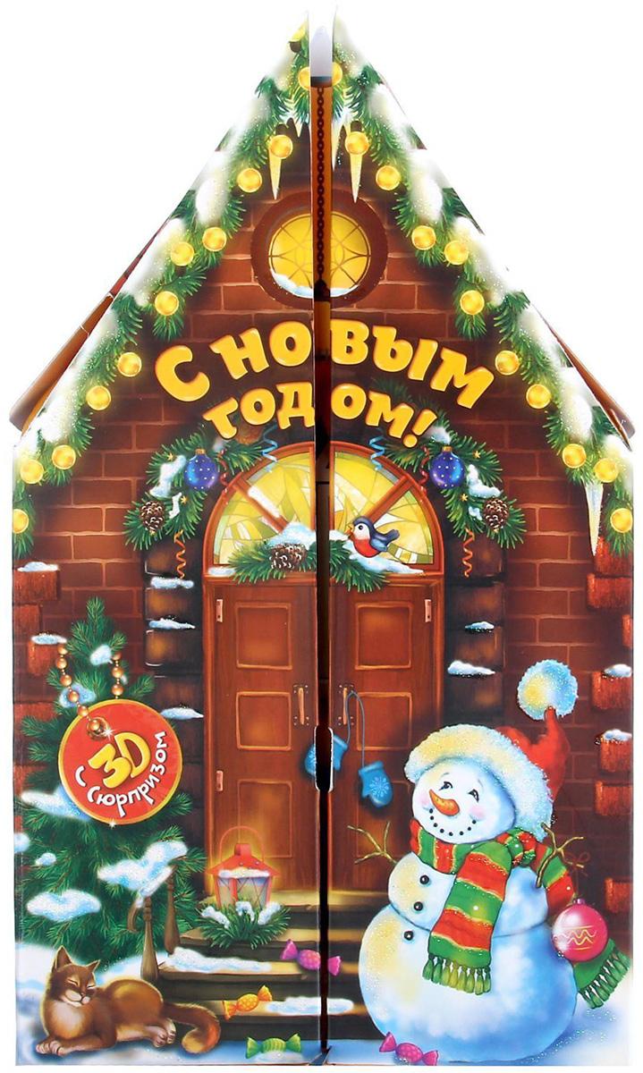 Коробка складная Sima-land Новогоднее торжество, 14 х 14 х 5 см автоключики д дев свет звук 14 5 21 см коробка