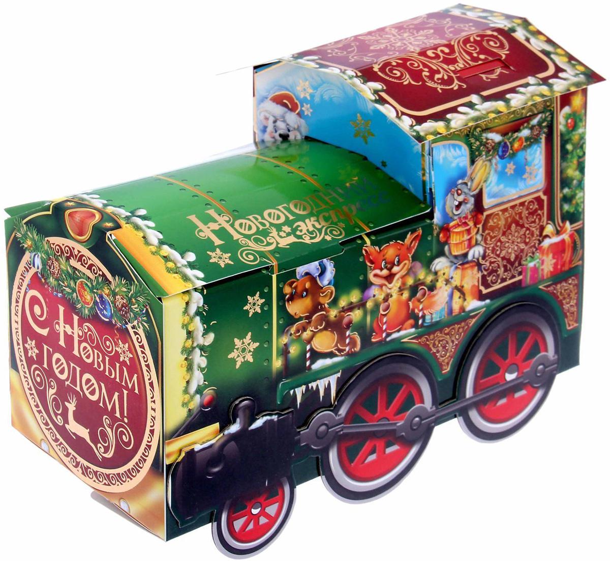 Коробка складная Sima-land Новогодний экспресс, 25 х 10.5 х 11 см1128428Любой подарок начинается с упаковки. Что может быть трогательнее и волшебнее, чем ритуал разворачивания полученного презента. И именно оригинальная, со вкусом выбранная упаковка выделит ваш подарок из массы других. Она продемонстрирует самые теплые чувства к виновнику торжества и создаст сказочную атмосферу праздника.