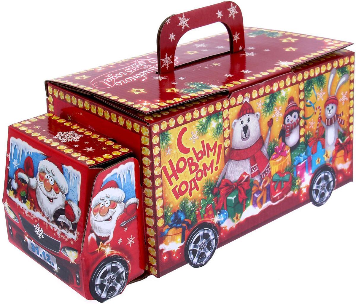 Коробка складная Sima-land Машинка, 24 х 12 х 12 см1129027Любой подарок начинается с упаковки. Что может быть трогательнее и волшебнее, чем ритуал разворачивания полученного презента. И именно оригинальная, со вкусом выбранная упаковка выделит ваш подарок из массы других. Подарочная коробка Sima-land продемонстрирует самые теплые чувства к виновнику торжества и создаст сказочную атмосферу праздника.