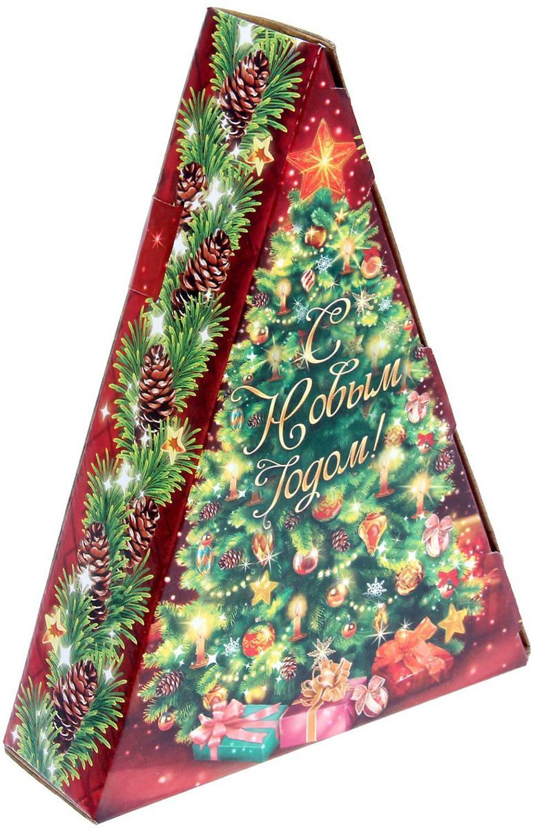 Коробка складная Sima-land Новогодняя Елочка, 20 х 15 х 5 см1129028Любой подарок начинается с упаковки. Что может быть трогательнее и волшебнее, чем ритуал разворачивания полученного презента. И именно оригинальная, со вкусом выбранная упаковка выделит ваш подарок из массы других. Подарочная коробка Sima-land продемонстрирует самые теплые чувства к виновнику торжества и создаст сказочную атмосферу праздника.