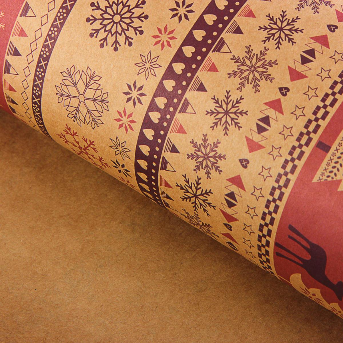 Набор бумаги упаковочной Sima-land Скандинавский узор, крафт, цвет: сиреневый, 50 х 70 см, 10 листов1269928Она универсальна в оформлении любой продукции и подарка и сделает даже обычный презент заметным, приятным и стильным.