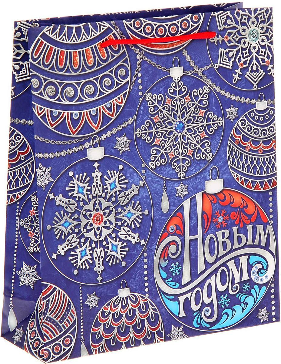 Пакет подарочный Sima-land Узорные шарики, 23 х 27 х 8 см пакет ламинат вертикальный sima land со светлой пасхой 18 х 23 х 8 см