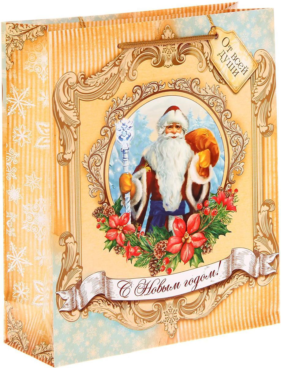 Пакет подарочный Sima-land Дед Мороз, 23 х 27 х 8 см сумка дорожная sima land цвет черный 50 х 23 х 27 см 1847803