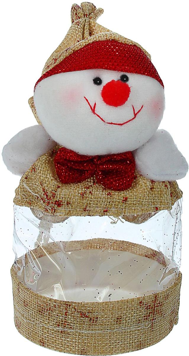 Конфетница Sima-land Снеговик, с бантиком, вместимость 150 г1308734Нарядный мешочек-конфетница Sima-land изготовлен из сочетания текстиля и пластика. Конфетница закрывается на утягивающий шнурочек. Яркий символичный персонаж на передней стороне изделия создаст новогоднее настроение. Креативная упаковка сделает ваш презент особенным и самым запоминающимся.Вместительность: 150 г.