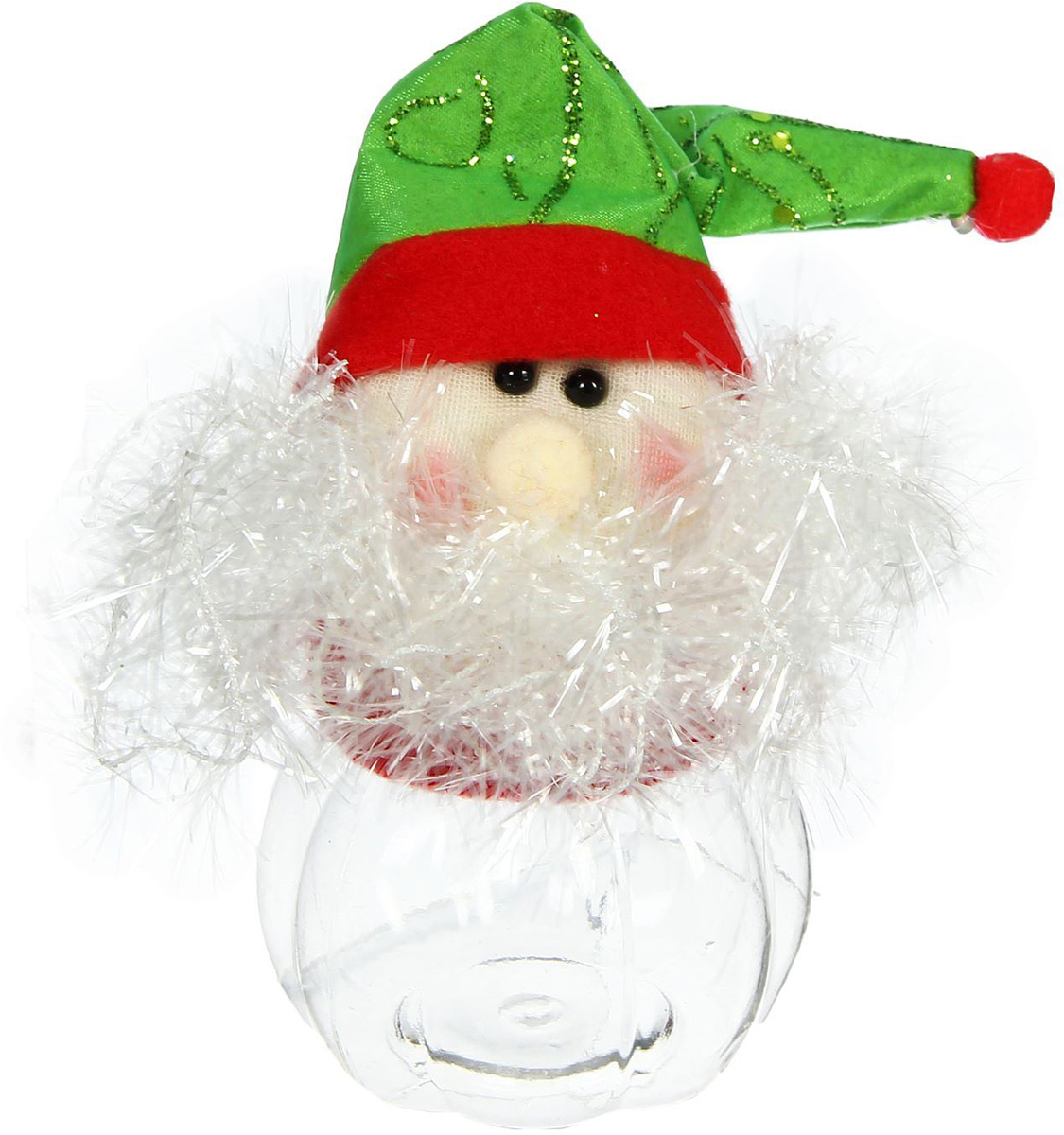 Конфетница Sima-land Дед Мороз. Пушистая борода, вместимость 80 г1308743Нарядная банка-конфетница Sima-land изготовлена из сочетания текстиля и пластика. Яркий символичный персонаж на передней стороне изделия создаст новогоднее настроение. Креативная упаковка сделает ваш презент особенным и самым запоминающимся.Вместительность: 80 г.