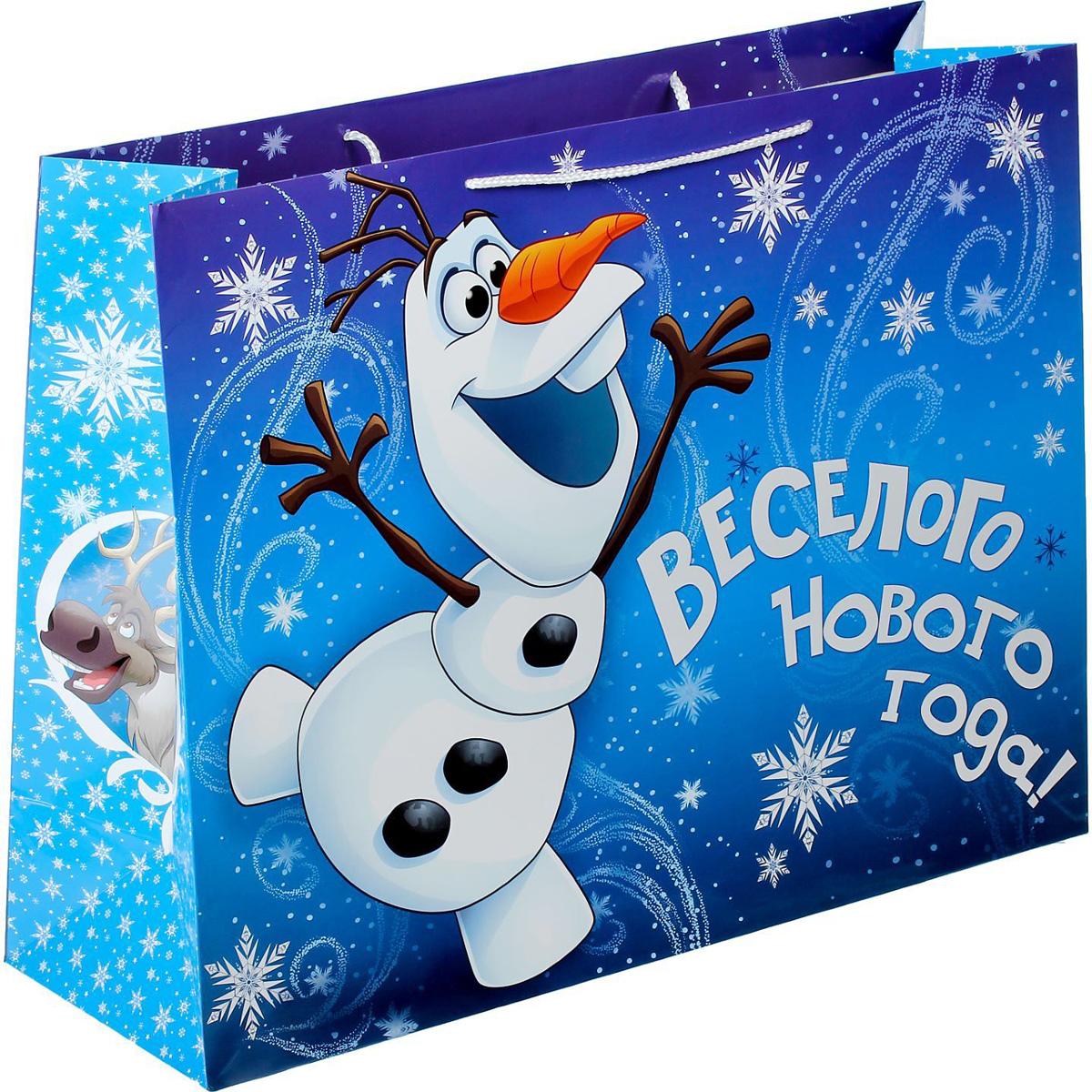 Пакет подарочный Disney Холодное сердце. Веселого Нового года!, XL, 61 х 46 х 20 см . 13521151352115Сделанная своими руками оригинальная упаковка выделит презент из массы других, расскажет о ваших тёплых чувствах, наполнит праздник сказочной атмосферой. Благодаря нашему набору для творчества сделать её не составит труда! Следуйте инструкции, и вы легко создадите яркую, привлекающую внимание коробочку.