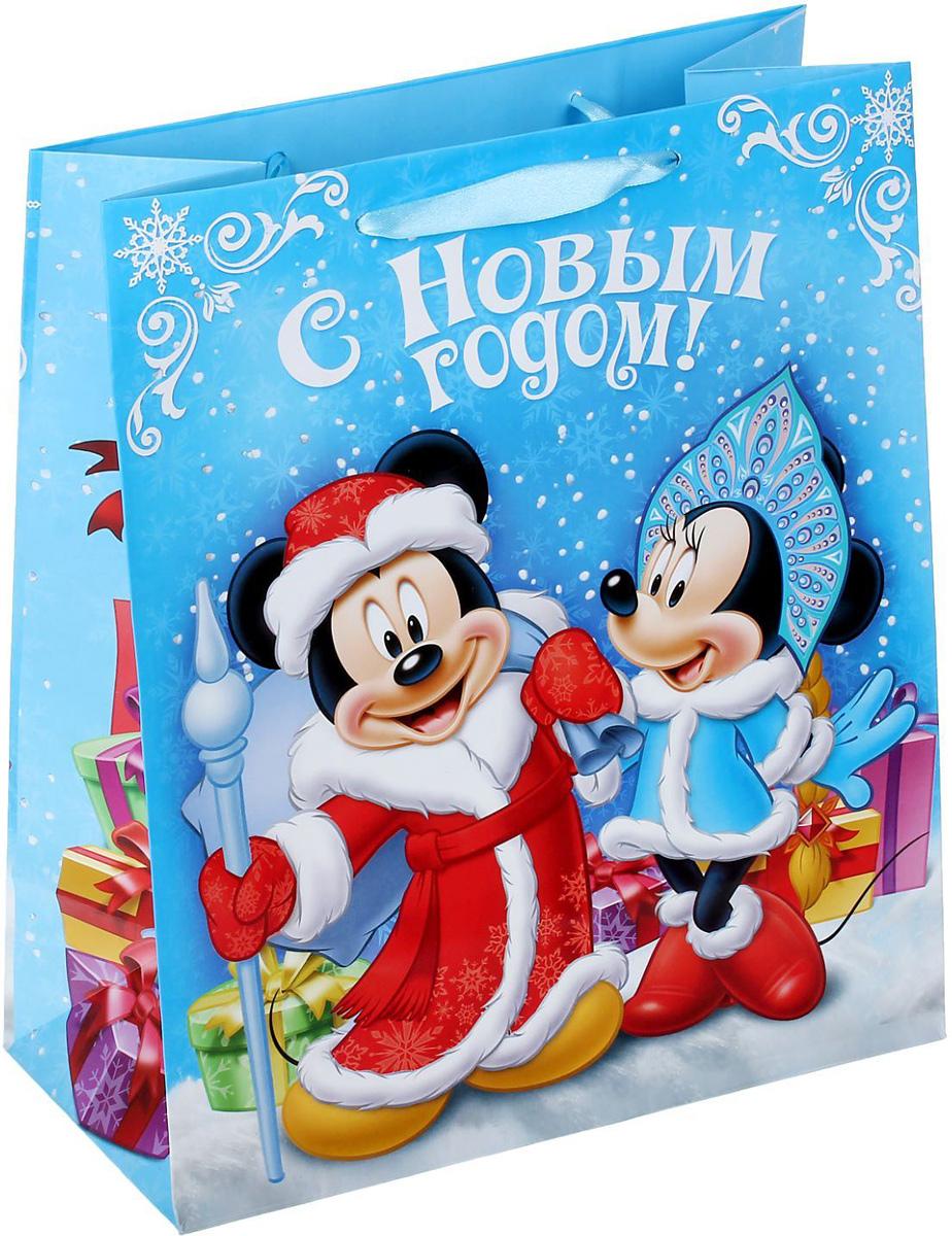 Пакет подарочный Disney Микки Маус и друзья. С Новым годом!, 23 х 27 х 8 см. 13521191352119Подарочный пакет Disney Микки Маус и друзья. С Новым годом!, изготовленный из плотной бумаги, станет незаменимым дополнением к выбранному подарку. Для удобной переноски на пакете имеются две ручки. Подарок, преподнесенный в оригинальной упаковке, всегда будет самымэффектным и запоминающимся. Окружите близких людей вниманием и заботой, вручив презент в нарядном, праздничном оформлении.