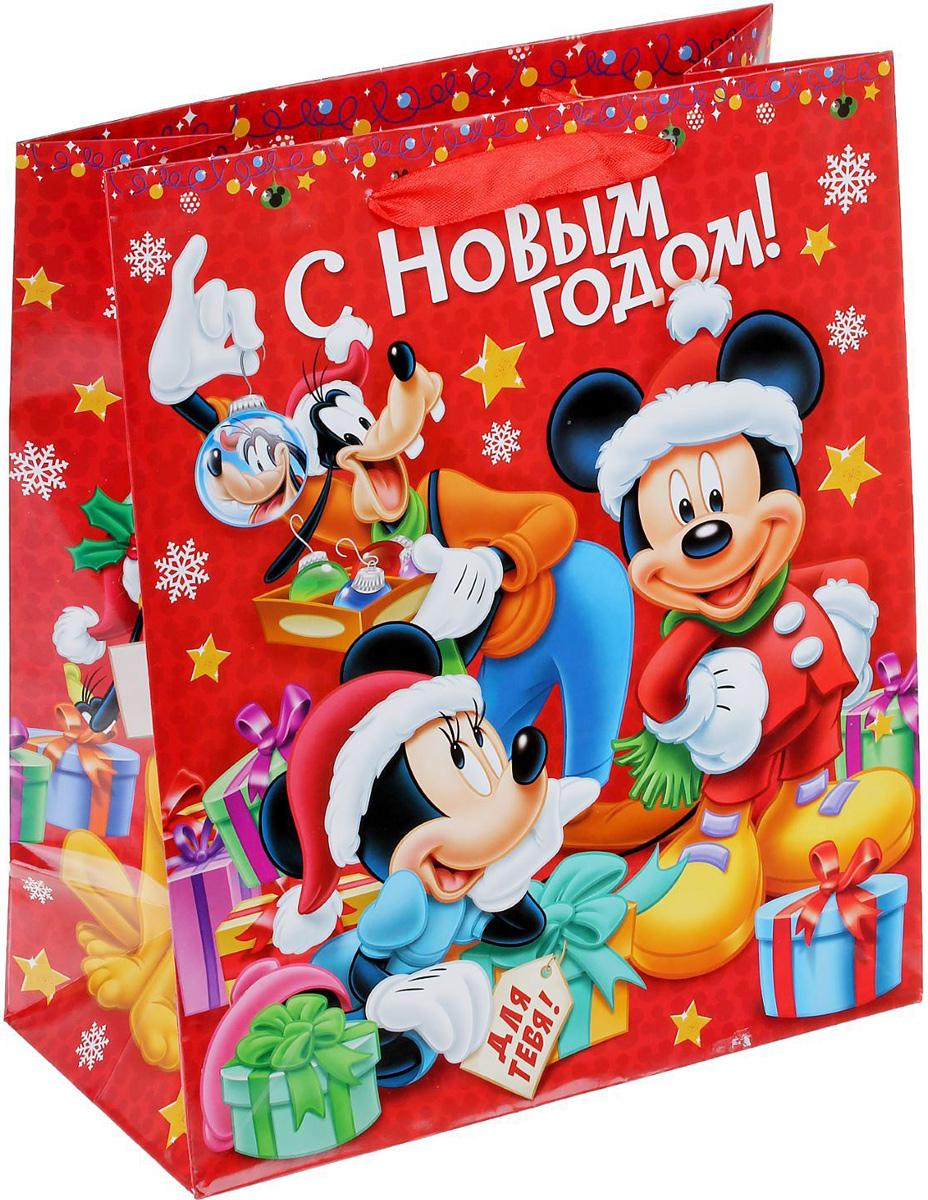 Пакет подарочный Disney Микки Маус и друзья. Для тебя, 23 х 27 х 8 см. 13521201352120Подарочный пакет Disney Микки Маус и друзья. Для тебя, изготовленный из картона, станет незаменимым дополнением к выбранному подарку. Для удобной переноски на пакете имеются две ручки. Подарок, преподнесенный в оригинальной упаковке, всегда будет самымэффектным и запоминающимся. Окружите близких людей вниманием и заботой, вручив презент в нарядном, праздничном оформлении.