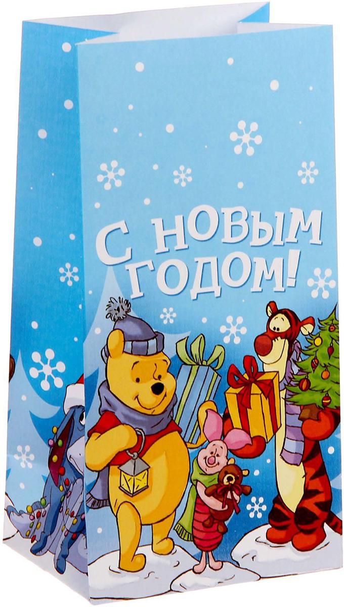 Пакет подарочный Disney Медвежонок Винни и его друзья. С новым счастьем!, 10 х 19,5 х 7 см1360550Подарочный пакет Disney Медвежонок Винни и его друзья. С новым счастьем!, изготовленный из бумаги, станет незаменимым дополнением к выбранному подарку.Подарок, преподнесенный в оригинальной упаковке, всегда будет самымэффектным и запоминающимся. Окружите близких людей вниманием и заботой, вручив презент в нарядном, праздничном оформлении.